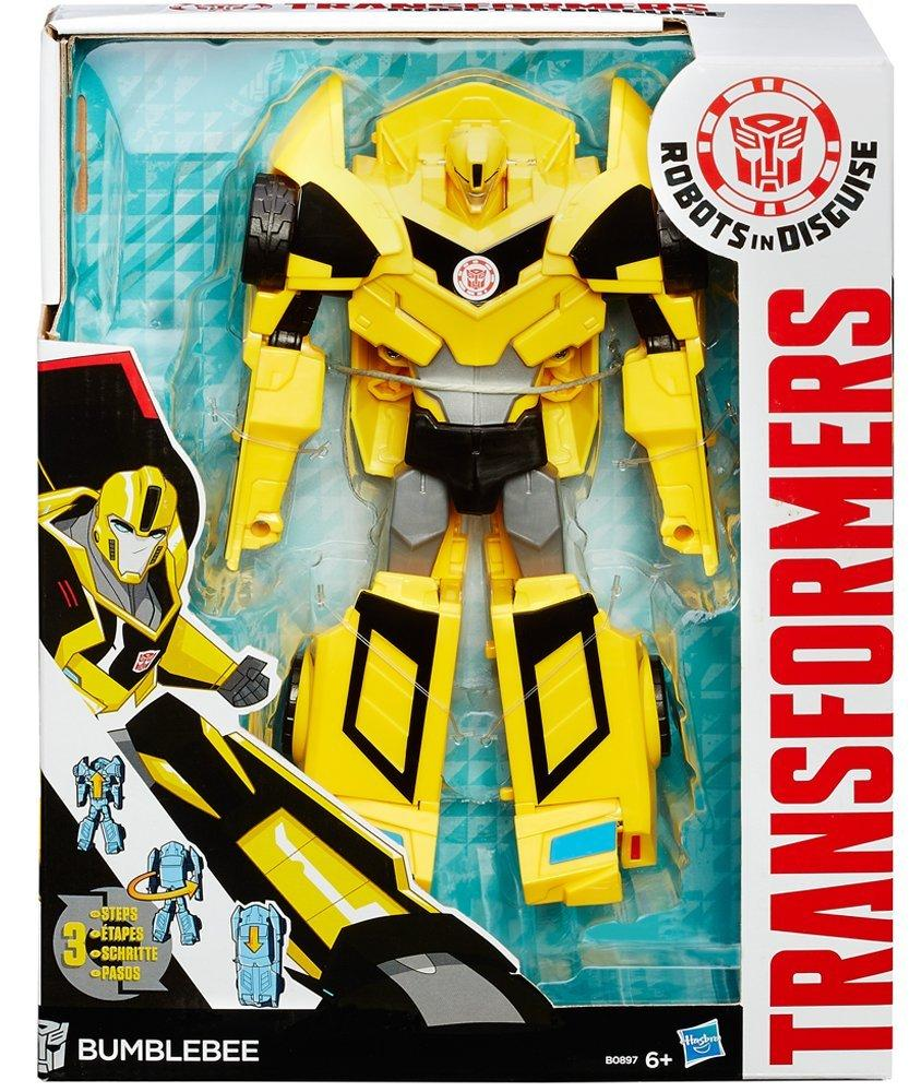 Transformers Robots in Disguise 3 Step Change Bumblebee Action Figure Yellow