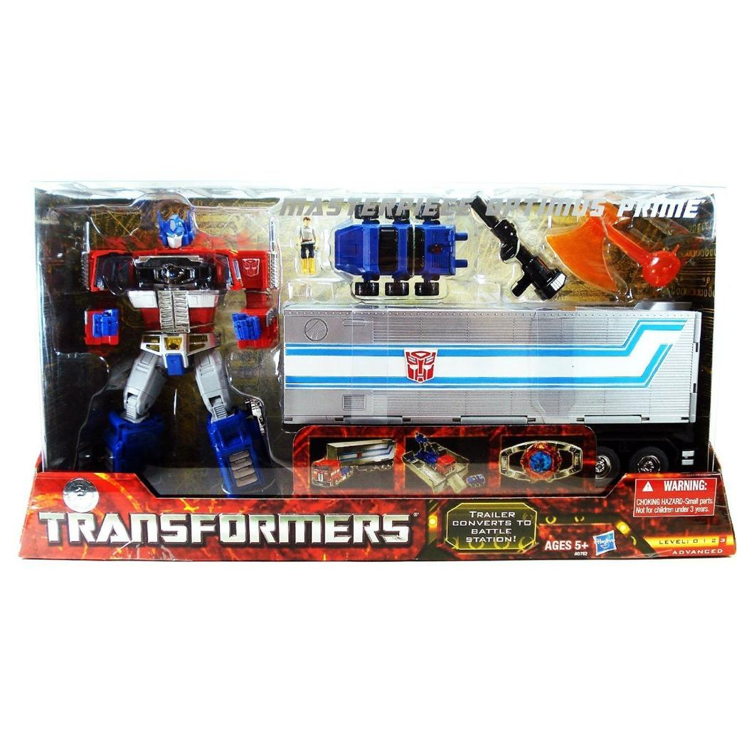 Transformers Masterpiece Optimus Prime With Trailer, Roller, Spike & Matrix