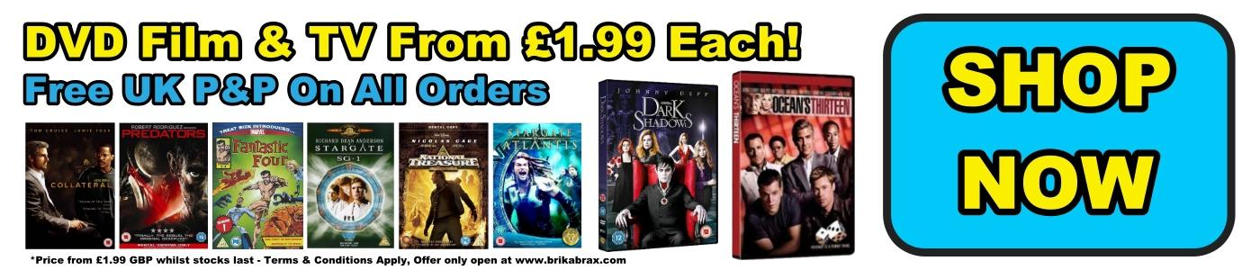 DVD Film And TV From £1.99 Each - Free UK P&P On All Orders