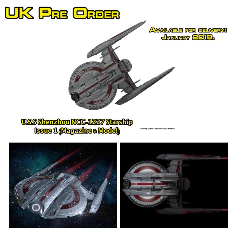 U.S.S Shenzhou NCC-1227 Starship Issue 1 (Mag + model)